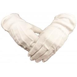 Manusi albe bumbac cu striatii din PVC