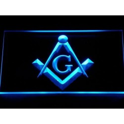 Emblema masonica luminoasa tridimensionala cu LED