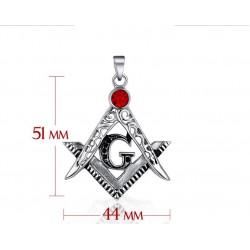 Pandantiv masonic Echer Compas