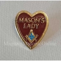 Pin Mason's Lady inima rosie