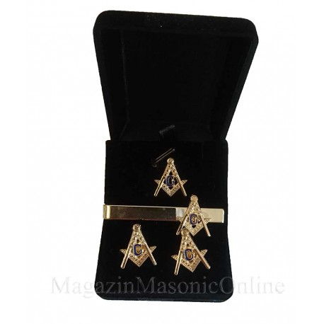 Set Freemason Elite Pin Ac cravata Butoni