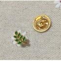 Pin masonic Acacia verde