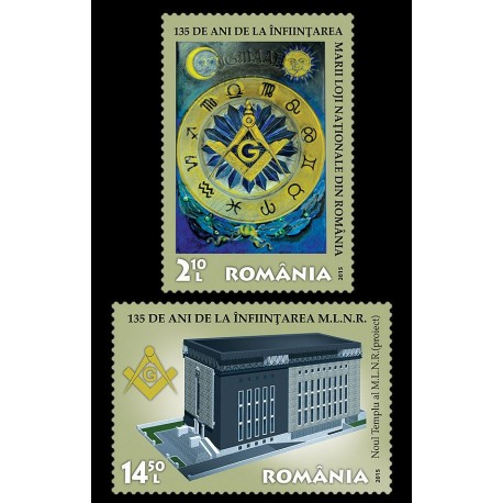 Set valori 135 DE ANI DE LA INFIINTAREA MARII LOJI NATIONALE DIN ROMANIA