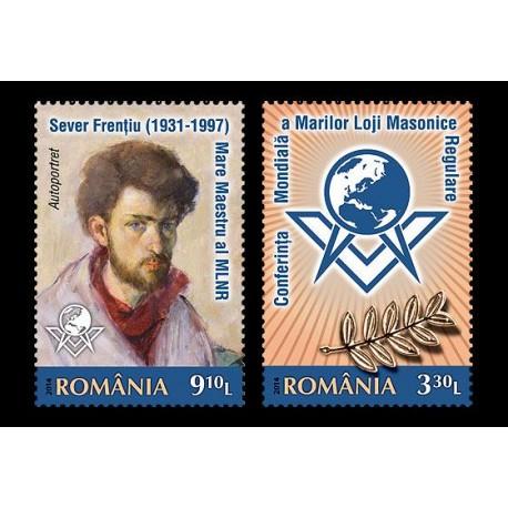 Serie doua valori Conferinta Mondiala a Marilor Loji Masonice Regulare