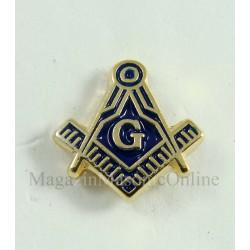 Pin miniatura Eche si Compas cu Litera G 10mm