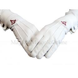 Manusi bumbac albe cu simbol rosu Echer Compas G