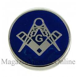 Pin mason - rotund albastru