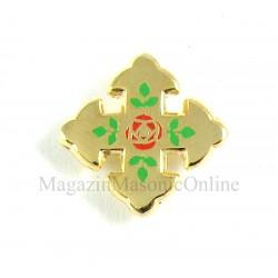 Pin Rosecroix cruce cu trandafir