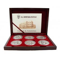 Set medalii comemorative DOMNITORII ROMANI