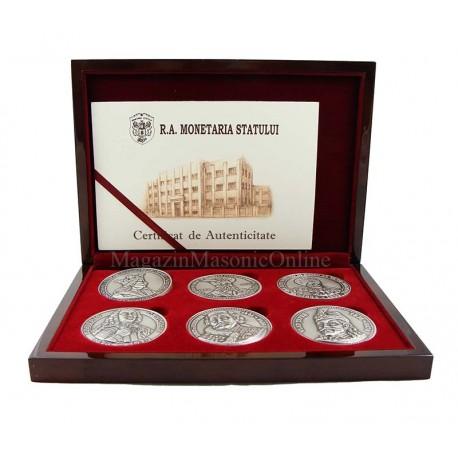 Set medalii comemorative DOMNITORI ROMANI