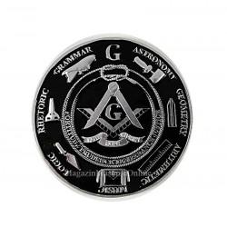 Sticker Auto Aluminiu cu Simboluri Masonice