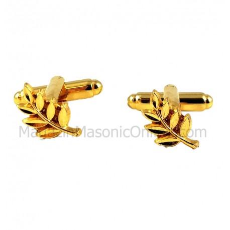 Butoni Simboluri Masonice ACACIA Aurii BC058