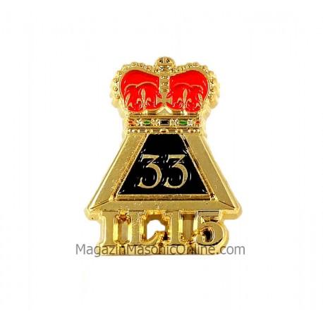 Pin Masonic Grad 33 IL15 Suveran Mare Inspector General PIN148