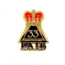 Pin Masonic Grad 33 PA16 Suveran Mare Inspector General PIN149