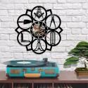 Ceas de Perete cu Simboluri Masonice MM607