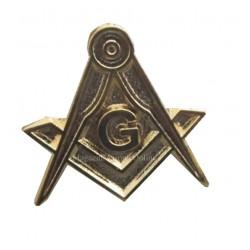 Pin Masonic - Echer si Compas Compet Auriu
