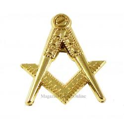 Pin Masonic Echer si Compas fara litera G