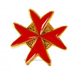 PIN MASONIC MALTESE CROSS
