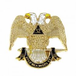 Pin Mason Grad 32° - Vultur Bicefal Mare