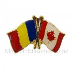 Insigna Drapel Romania - Drapel Canada