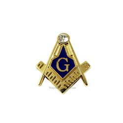 Pin Masonic Miniatura cu Zirconiu PIN127