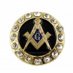 Pin masonic Echer Compas G 16 pietre