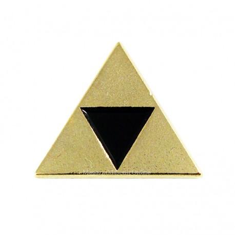 Pin mason Triunghi Delta Auriu - Negru