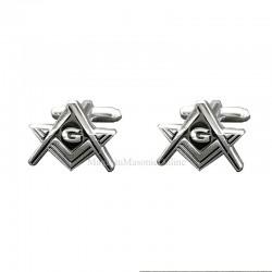 Butoni mason Argintiu cu litera G