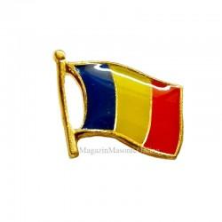 Pin Drapel Romania 18 mm