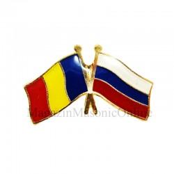 Insigna Drapel Romania - Rusia