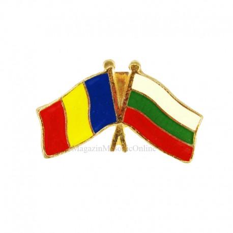 Insigna Drapel Romania - Bulgaria