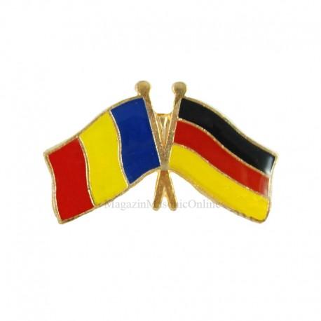 Insigna Drapel Romania - Germania