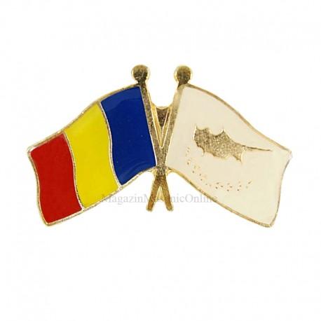 Insigna Drapel Romania - Cipru