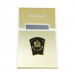 Tabachera Cu Simboluri Masonice Cheia de Bolta FOCUS MM626