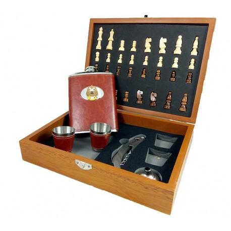 Set cadou sah si accesorii cu simboluri masonice
