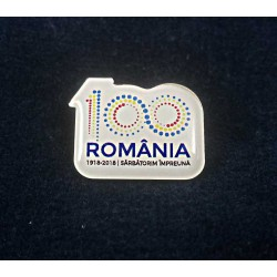 Insigna Centenar Color ROMANIA 100