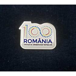Insigna Centenar Color ROMANIA 100