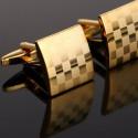 Butoni cu Simboluri Masonice Aurii Tabla de Sah BC648
