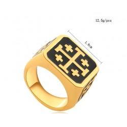 Inel Auriu Crucea de Ierusalim