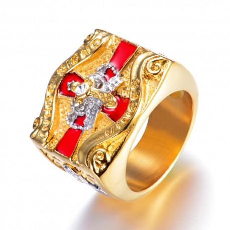 Inel simbol cavaler templier
