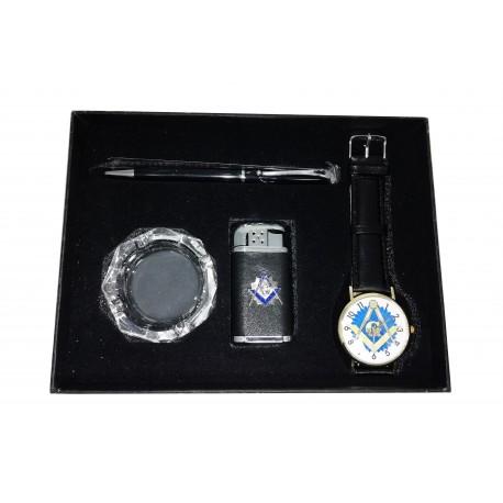 Set ceas, brichetă, scrumieră și pix