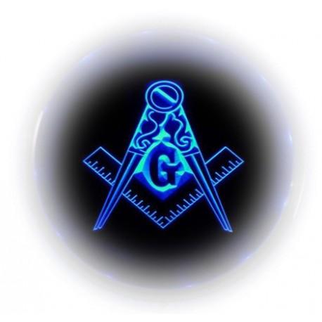 Simbol masonic echer, compas și litera G - iluminare LED