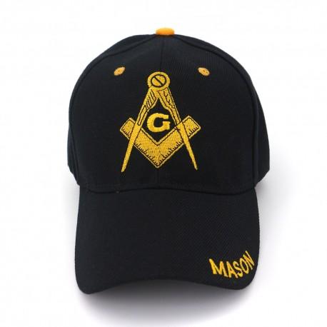Șapcă mason - negră cu galben