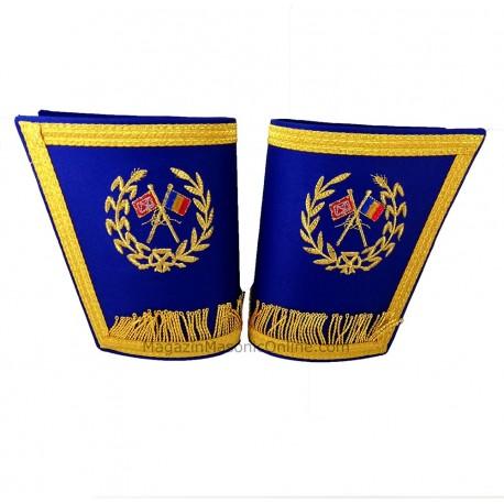 Manșete Maestru Mason - Steag România