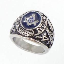 Inel masiv cu simboluri masonice - Master Mason Silver