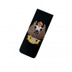 Clips Bani Negru Cu Simbol Masonic De Grad 33