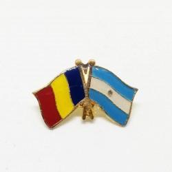Insigna Drapel Romania - Argentina