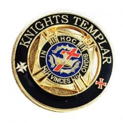 Pin masonic Cavalerii Templieri 21mm - PIN105