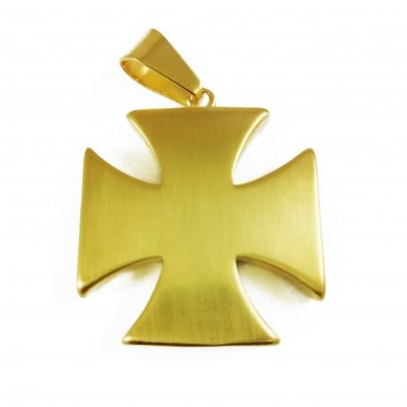 Pandantiv masonic auriu - Crucea Cavalerilor Templieri - MM734