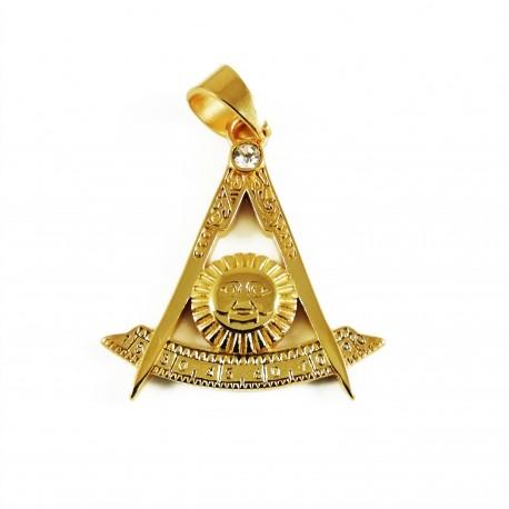 Pandantiv masonic Auriu mic - Simbol Solar - MM742